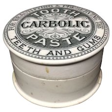 1885 Quack Medicine Carbolic Tooth Paste Pot and Lid 1885