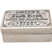 1880 Tooth Cream English Victorian Saponaceous Rose Pot 1880