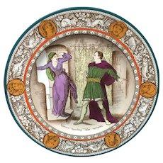 1880 ~ Rebecca Ivanhoe Superb Wedgwood Polychrome Plate ~ 1880