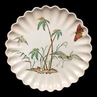1878 Exotic AESTHETIC Tazza ~ Egrets & Buttefly 1878