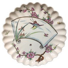 1878 Egret and Bugs Victorian Plate 1878