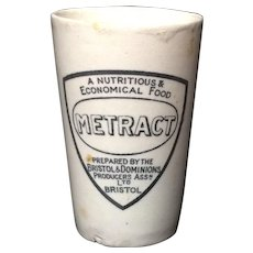 Large Beaker Quack Medicine ~ Invalid Food METRACT  ~ 1880