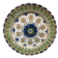 Antique Flow Blue English Transferware Plate ~ CYPRUS 1885