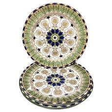 4 Elegant Antique English Transferware Plates ~ CYPRUS 1885