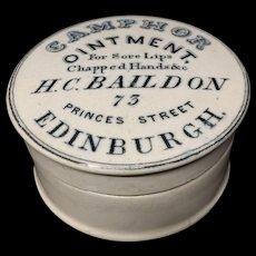 Quack Medicine CAMPHOR Ointment Pot ~ 1880