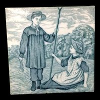 Tile ~ Green Wedgwood Months ~ JUNE 1879
