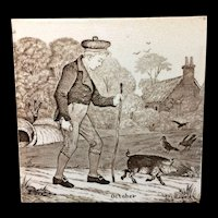 Wedgwood October Months Series Tile 1879