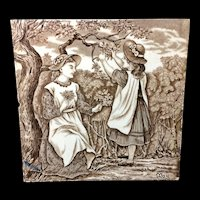 Tile ~ 1879 ~ Wedgwood Months ~ MAY ~ Helen Miles Artist