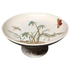 Early English Cake Cheese Tazza Comport ~ Copeland Egrets 1878