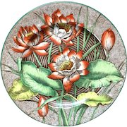 1903 ~ Wedgwood Cabinet Transferware Plate ~ WATER LILLY 1903
