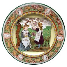 Wedgwood Ivanhoe & Wedgwood Months MAY Polychrome Plate ~ 1898