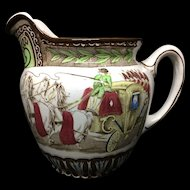 1906 ~ Rare Cinderella Buffalo Pottery Pitcher Jug