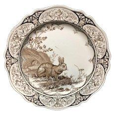 Wedgwood Rural Scenes RABBITS Plate ~ 1877