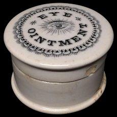 Eye Ointment Quack Medicine ~ Eye Disease ~ 1880