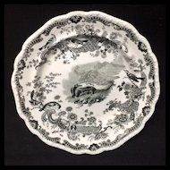 ZOOLOGICAL Sketches Staffordshire Skunk Plate 1820