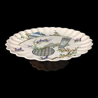 Aesthetic Movement Cheese Comport Tazza ~ Birds ~ EGRETS 1879