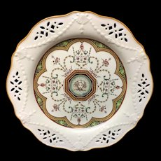 Brown Transferware Incised Plate ~ Cherub 1873