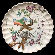 1877 Victorian Aesthetic Movement Plate ~ PEACOCKS 1877