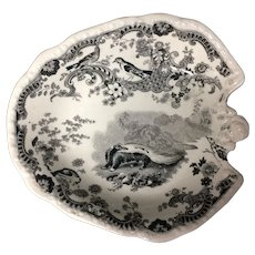 Rare ZOOLOGICAL SKETCHES Staffordshire Transferware Pickle Dish 1820