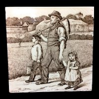 William Wise Country Life Tile ~ Farmer 1882
