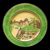 St Augustine Staffordshire Rabbitware Rabbits Frog Plate c1900