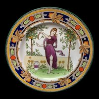 1891 ~ Superb Wedgwood Polychrome Plate ~ Musician Series ~ 1891