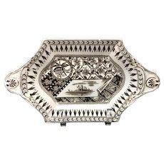 Brown Transferware Pickle Platter ~ CANTERBURY 1883