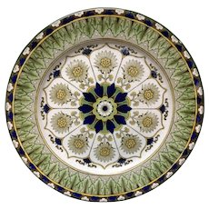 Antique Flow Blue English Transferware Plate ~ CYPRUS 1885