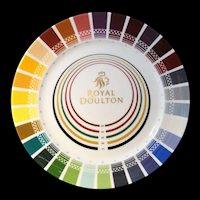 COLOR SAMPLE Charger Plate Designer Decorator Royal DOULTON c2006