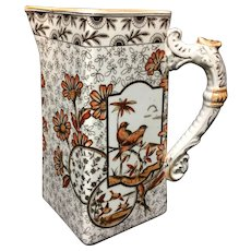 Brown Transferware Milk Pitcher Jug ~ Devonshire 1884