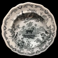 Zoological Sketches Pearlware Soup Plate ~ GAZELLE 1820
