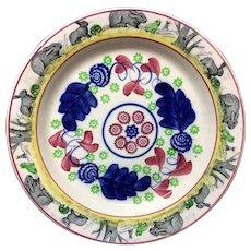 c 1900 ~ Stick Spatter Rabbitware Ironstone Large CHARGER Platter