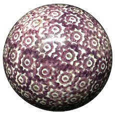 Victorian Purple Scottish Carpet Ball Boule Bowl 1860