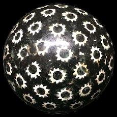 Victorian Black Scottish Carpet Ball Boule Bowl 1860