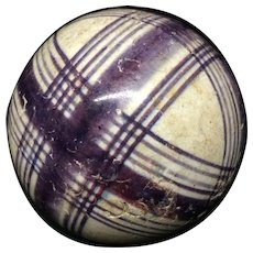 Victorian Ceramic Purple Striped Scottish Carpet Ball