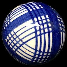 Small Ladies Victorian Blue Striped Scottish Carpet Ball