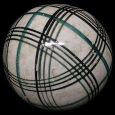 Victorian Green & Black Striped Scottish Carpet Ball
