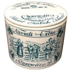 Rare Outstanding Ceramic Navrati Extra Tobacco Box ~ c.1890