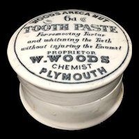 Quack Medicine English Tooth Paste Pot and Lid 1890