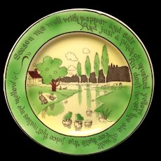 St Augustine Staffordshire Rabbitware Frogs Cows Plate c1900