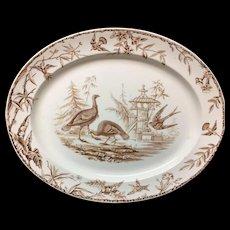 Large Aesthetic Movement TURKEY Platter ~ Indus 1877