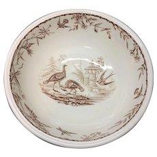 Spectacular Large Brown Staffordshire Wash Bowl Basin ~ INDUS 1885