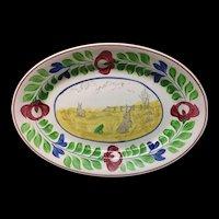 Stick Spatter Rabbitware Ironstone PLATTER ~ Adams Rose c1900