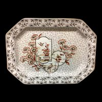 Gorgeous Large Victorian Aesthetic Transferware Platter ~ Devonshire 1884