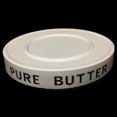 English Ironstone PURE BUTTER Dairy Shop Display Stand