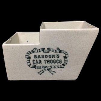 One of a Kind Antique Ear Trough Otorhinolaryngology ~ c 1880