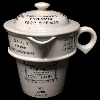 Clarke's Patent Pyramid Fairy Food Warmer 1895