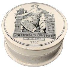Holloway's Ointment Quack Medicine Cure-All Medicine Pot ~ 1880