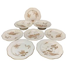 Wedgwood Raised Gilded Gold Desert Set ~ 1885