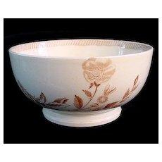 Wedgwood BOTANICAL Creamware Transferware Waste Bowl 1878